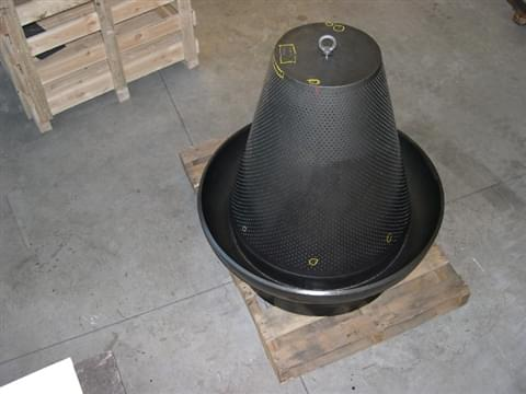 Conical dumptube