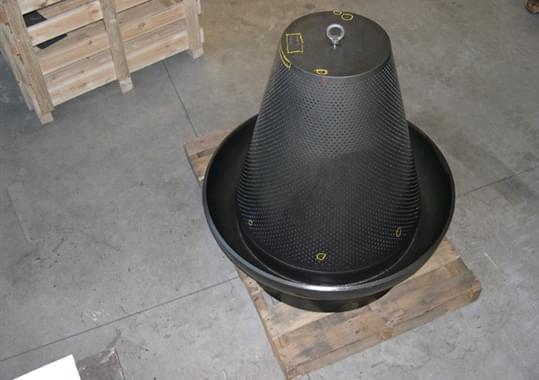 Conical dumptube
