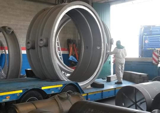 Fabricated TOV Butterfly Valves 112 inch