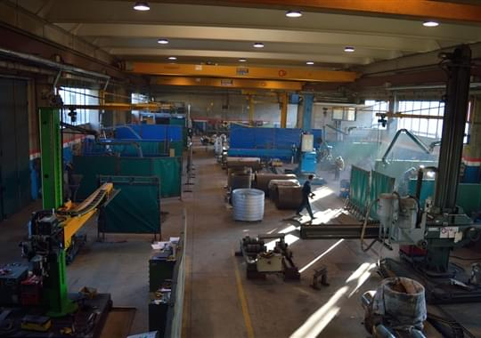 View on Gotti plant: welding area