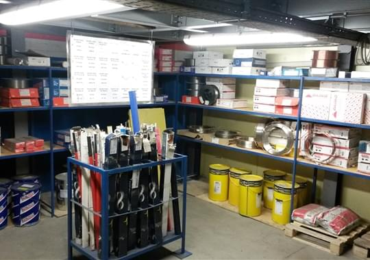 Welding consumable storage room