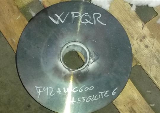 Welding Overlay Special Qualification - Stellite gr.6 on F92